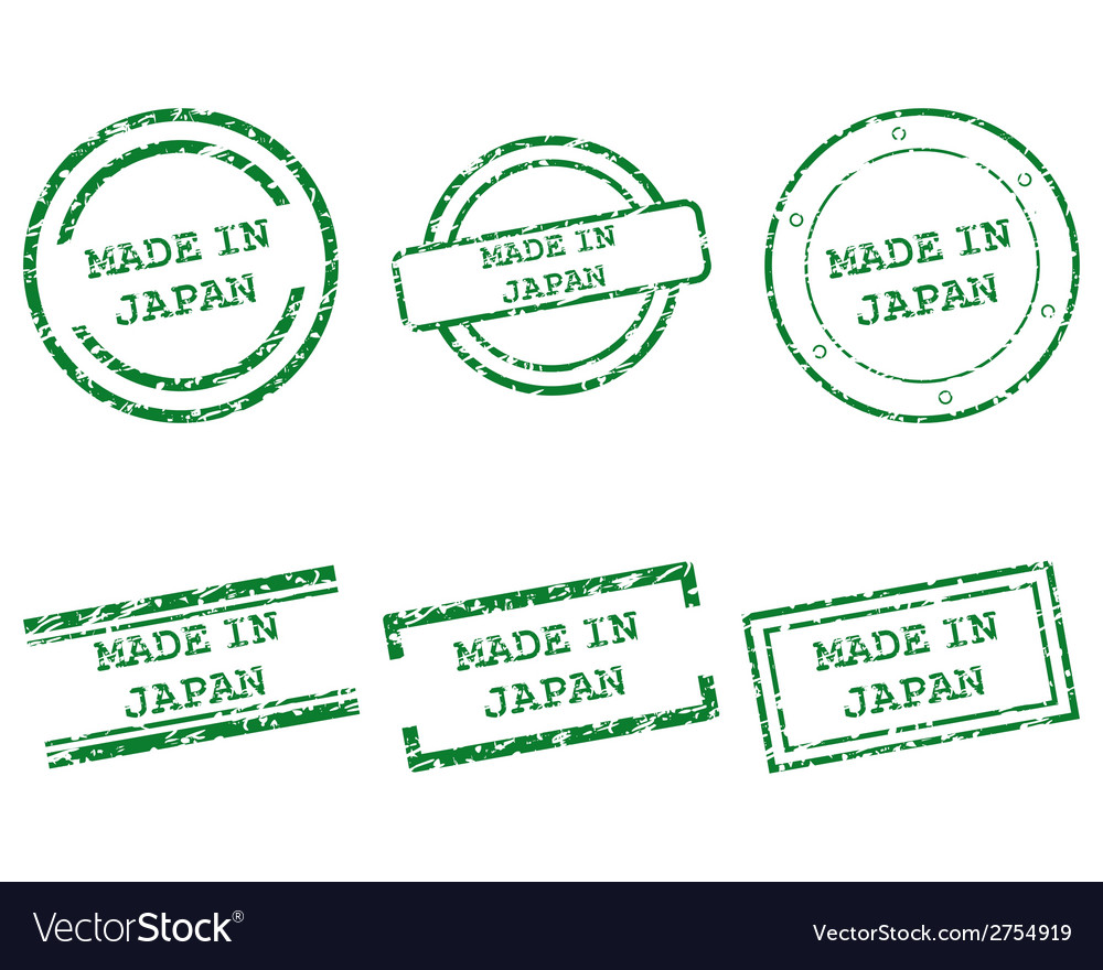 Made in japan stamps vector | Price: 1 Credit (USD $1)