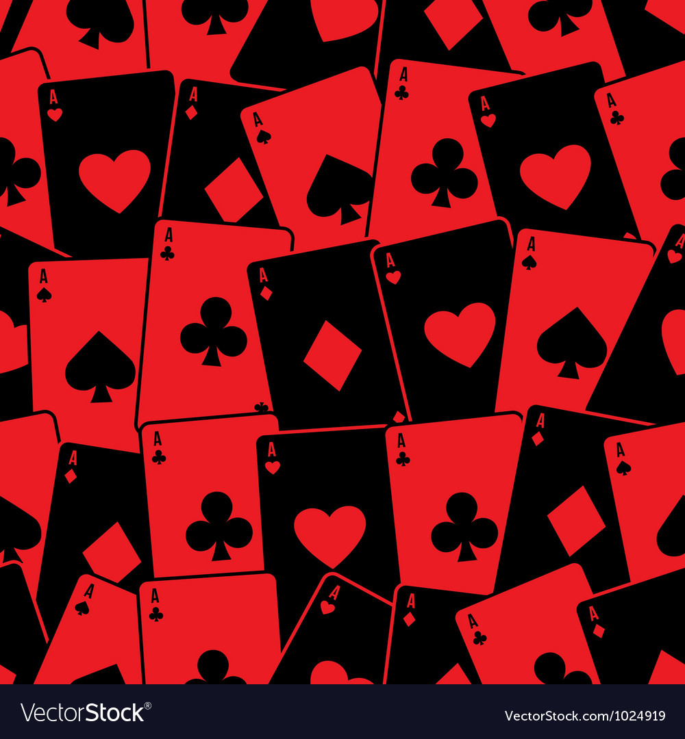 Playing cards seamless background pattern vector | Price: 1 Credit (USD $1)