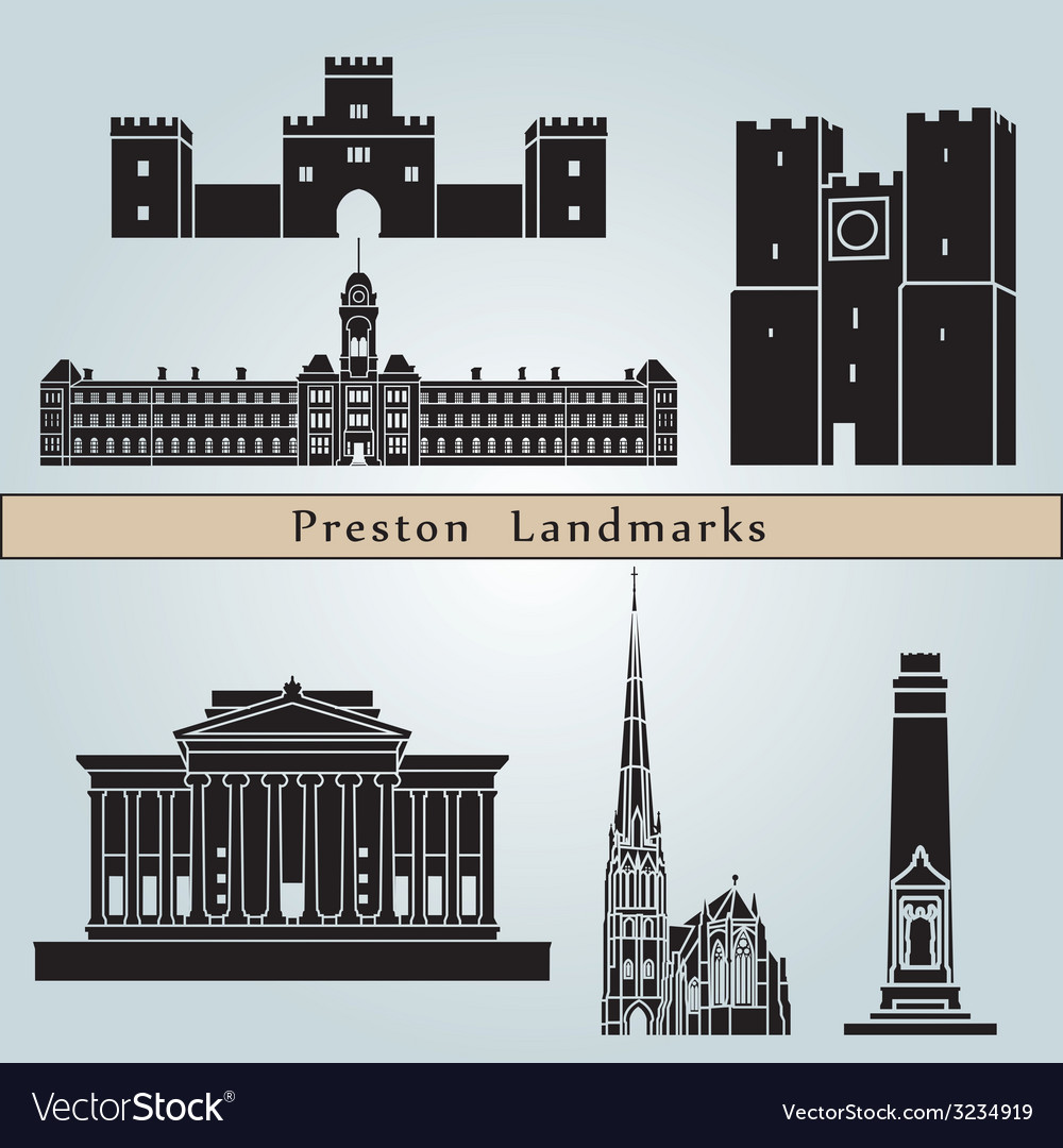Preston landmarks and monuments vector | Price: 1 Credit (USD $1)