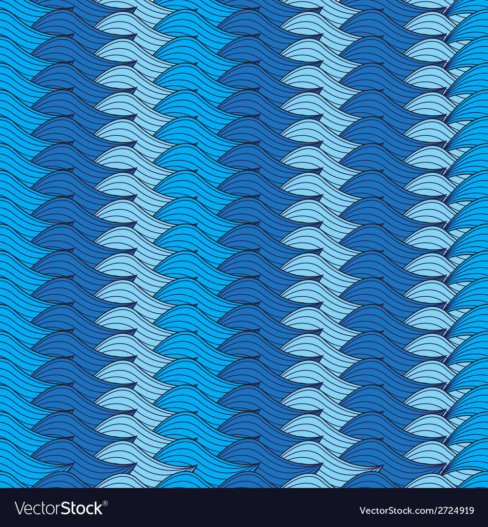 Seamless blue background with knitted rows vector | Price: 1 Credit (USD $1)