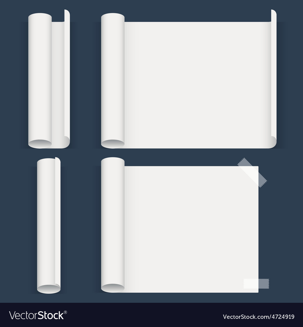 Set of sheets a different form whatman paper vector | Price: 1 Credit (USD $1)