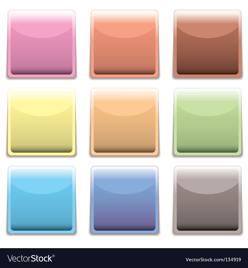 Subtle square plastic web icon vector | Price: 1 Credit (USD $1)