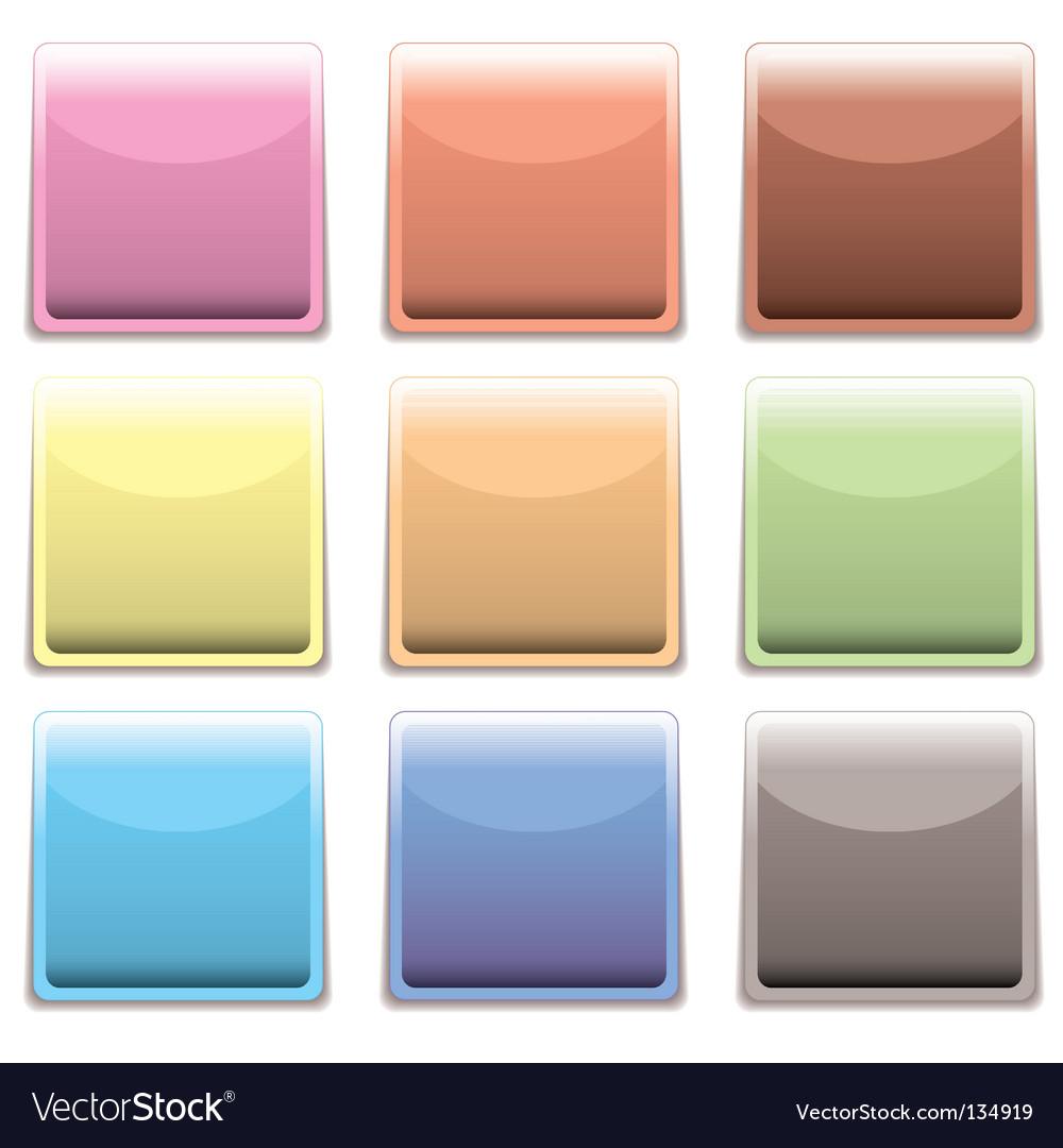Subtle square plastic web icon vector | Price: 1 Credit (USD $1)