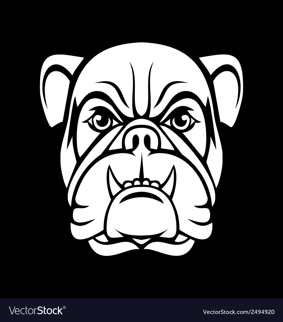 Bulldog face vector | Price: 1 Credit (USD $1)