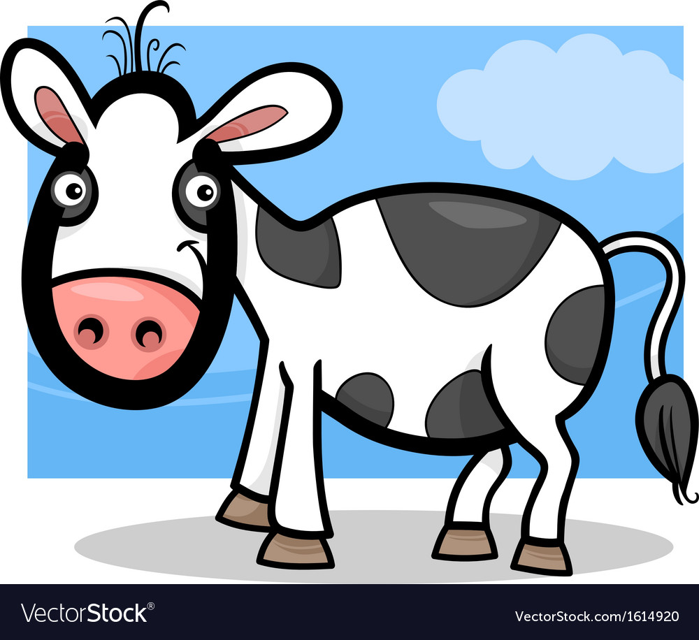 Calf baby farm animal cartoon vector | Price: 1 Credit (USD $1)