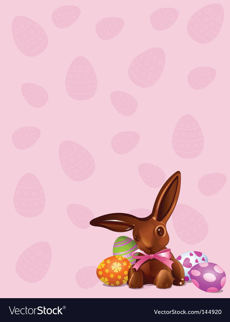 Chocolate easter bunny background vector | Price: 3 Credit (USD $3)
