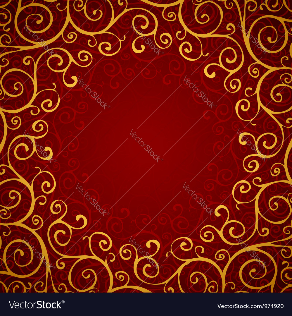 Decoration on a red background vector | Price: 1 Credit (USD $1)