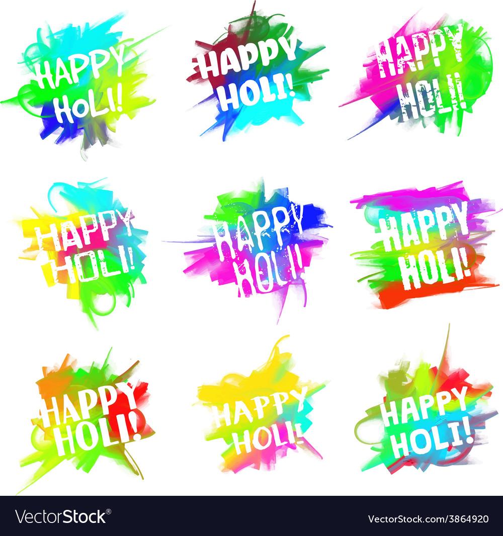 Happy holi set vector   Price: 1 Credit (USD $1)