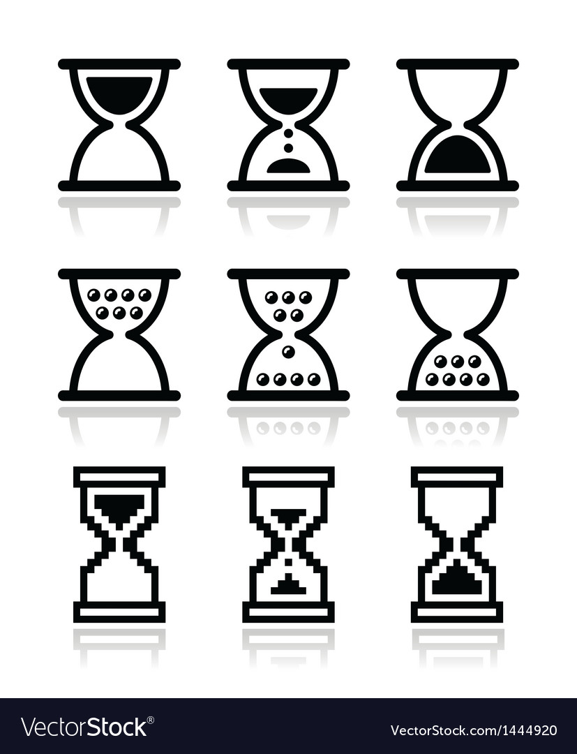 Hourglass sandglass icon set vector | Price: 1 Credit (USD $1)