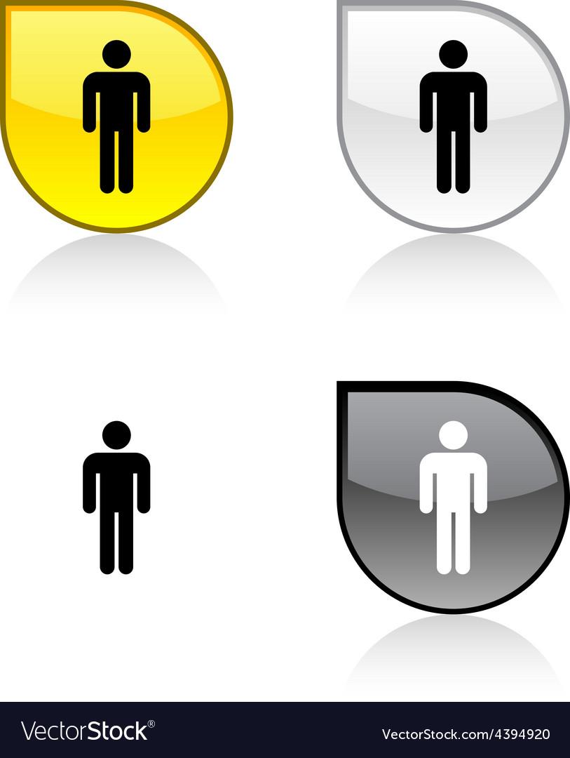 Male button vector | Price: 1 Credit (USD $1)