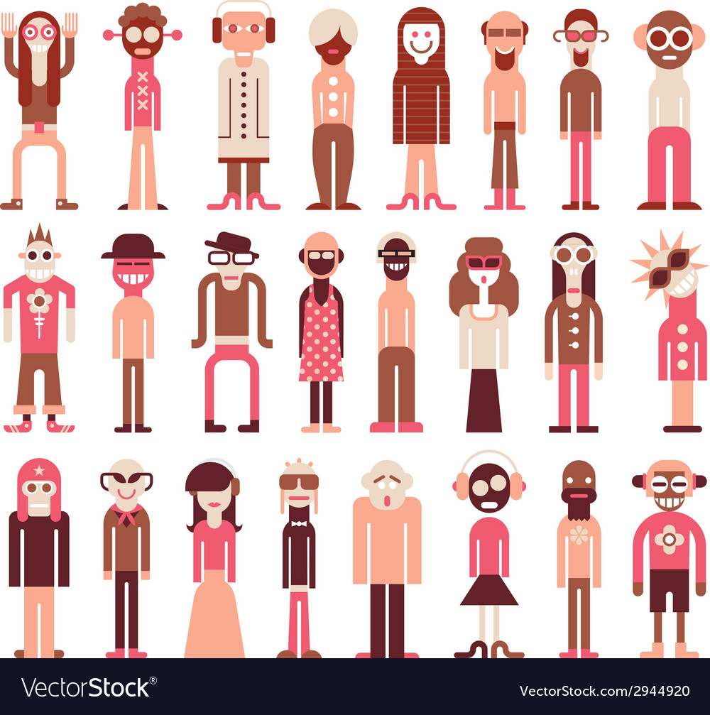 People icons on white vector | Price: 1 Credit (USD $1)