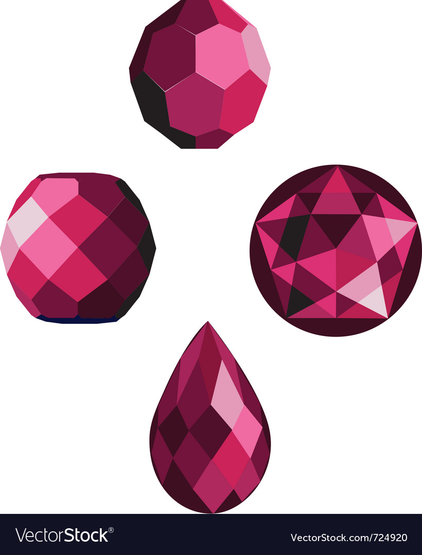 Pink crystal faceted beads vector | Price: 1 Credit (USD $1)
