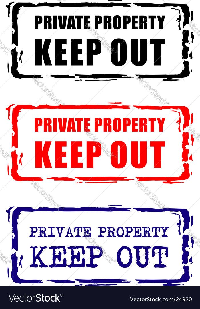 Private property stamp vector | Price: 1 Credit (USD $1)