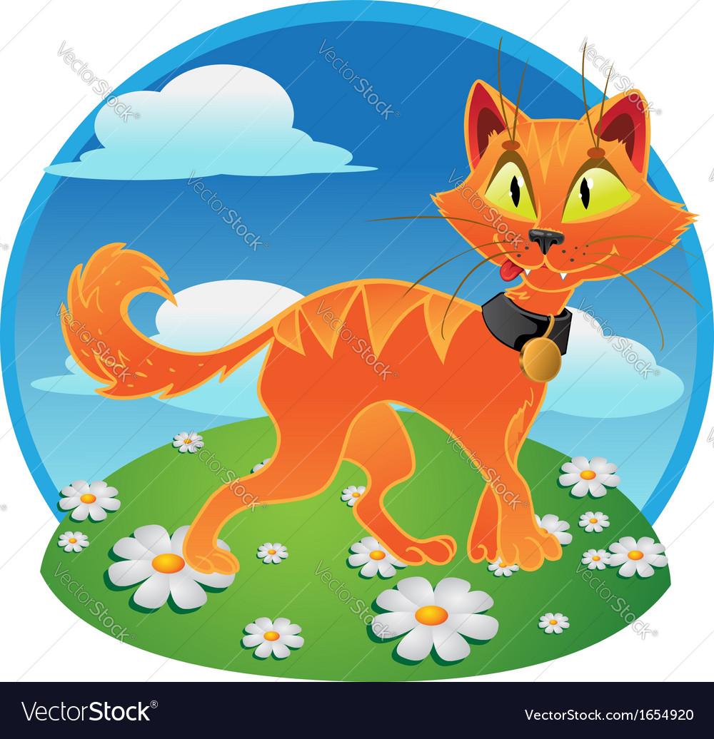 Pumpkin-orange halloween cat vector | Price: 3 Credit (USD $3)