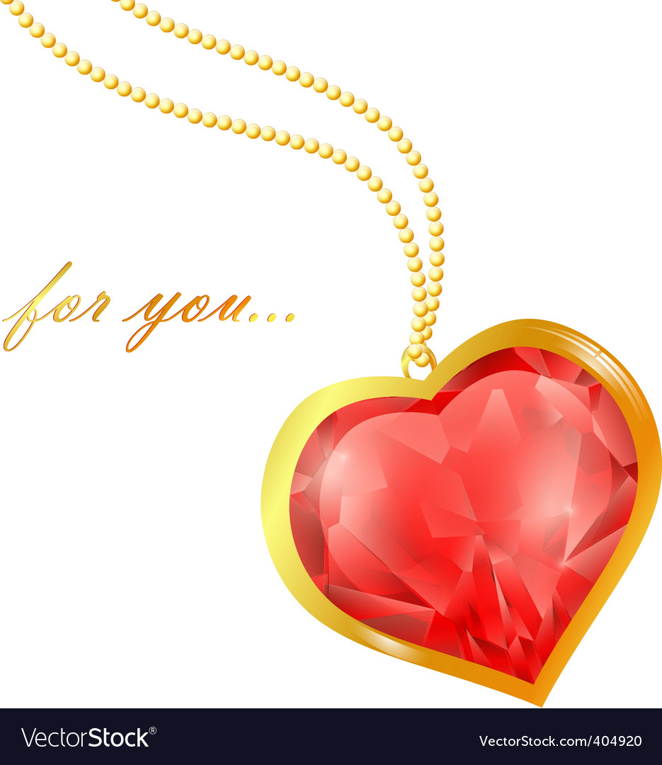 Ruby heart vector | Price: 1 Credit (USD $1)