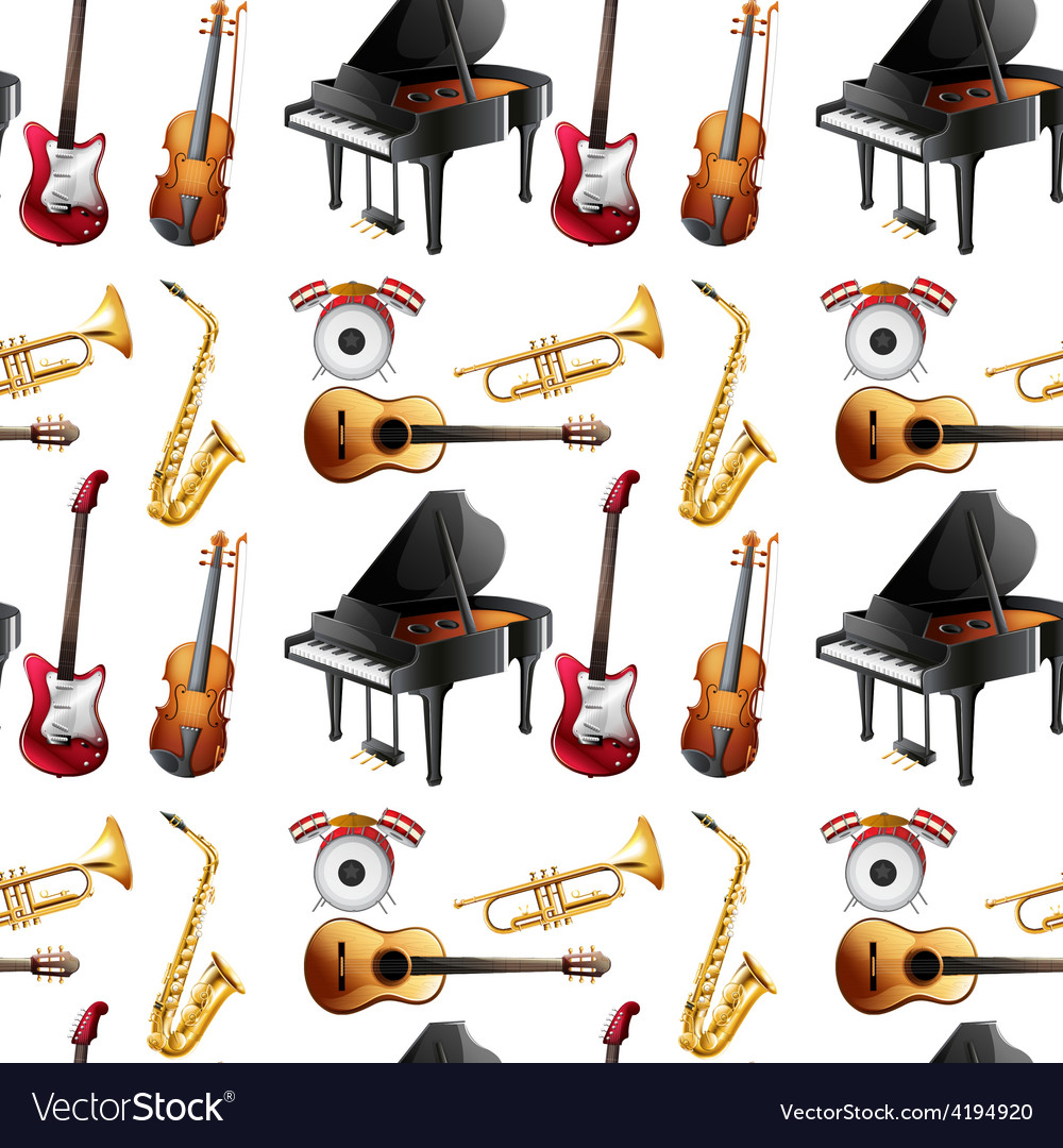 Seamless instrument vector | Price: 1 Credit (USD $1)