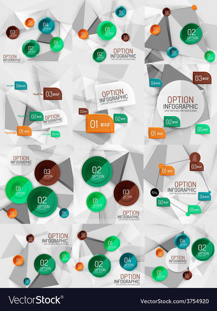 Set of business abstract infographics vector | Price: 1 Credit (USD $1)