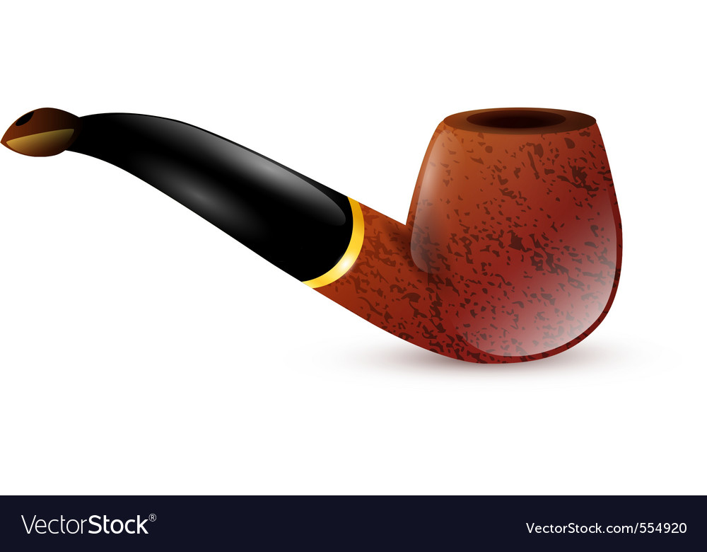 Tobacco pipe vector | Price: 1 Credit (USD $1)