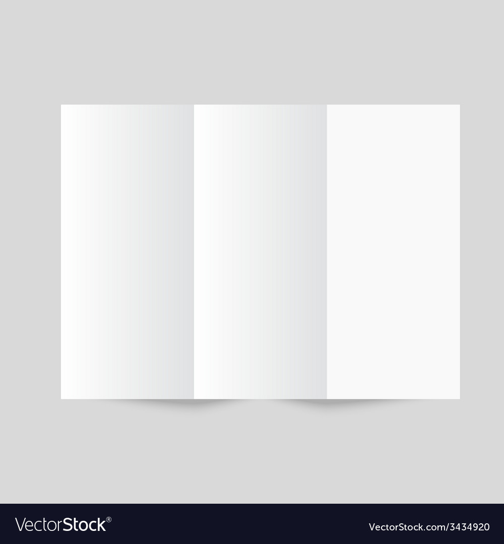 White stationery blank trifold paper brochure vector | Price: 1 Credit (USD $1)