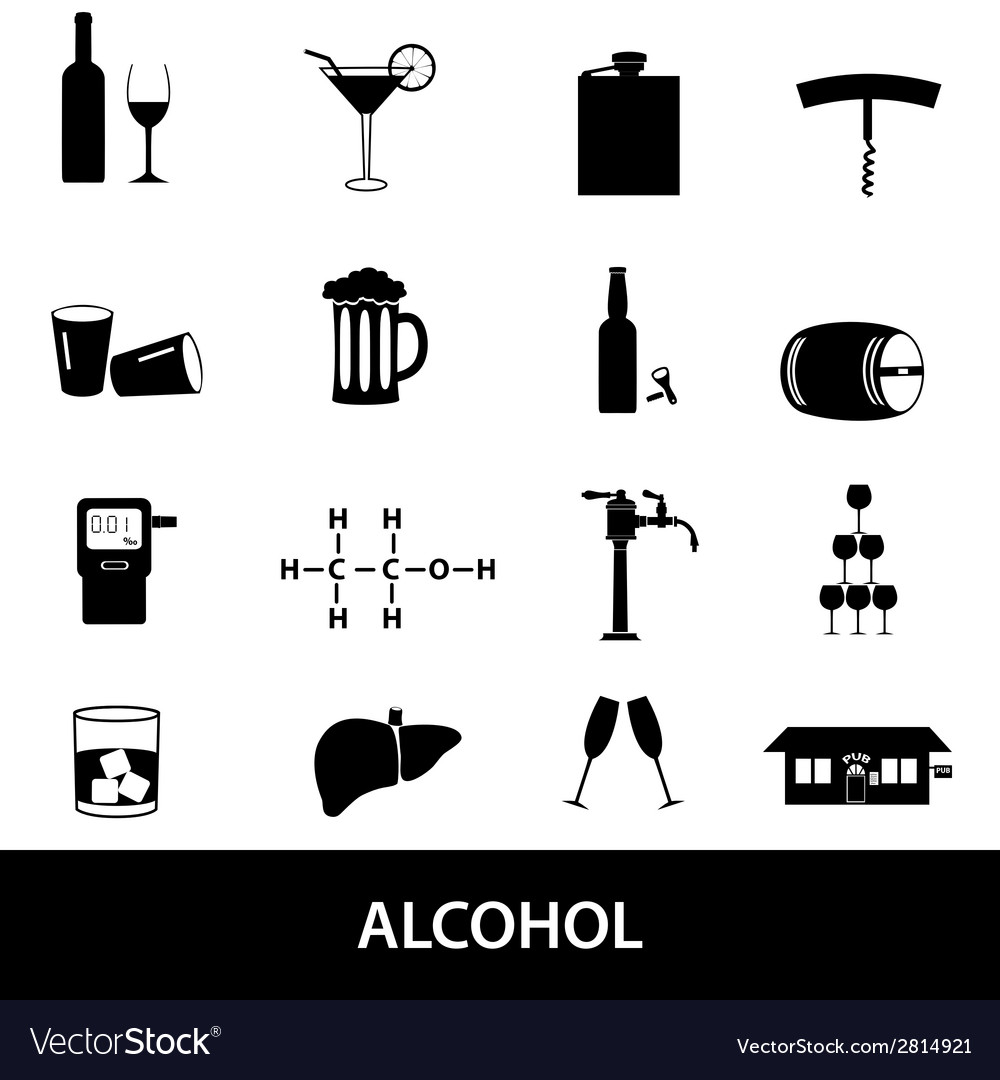 Alcohol icons set eps10 vector