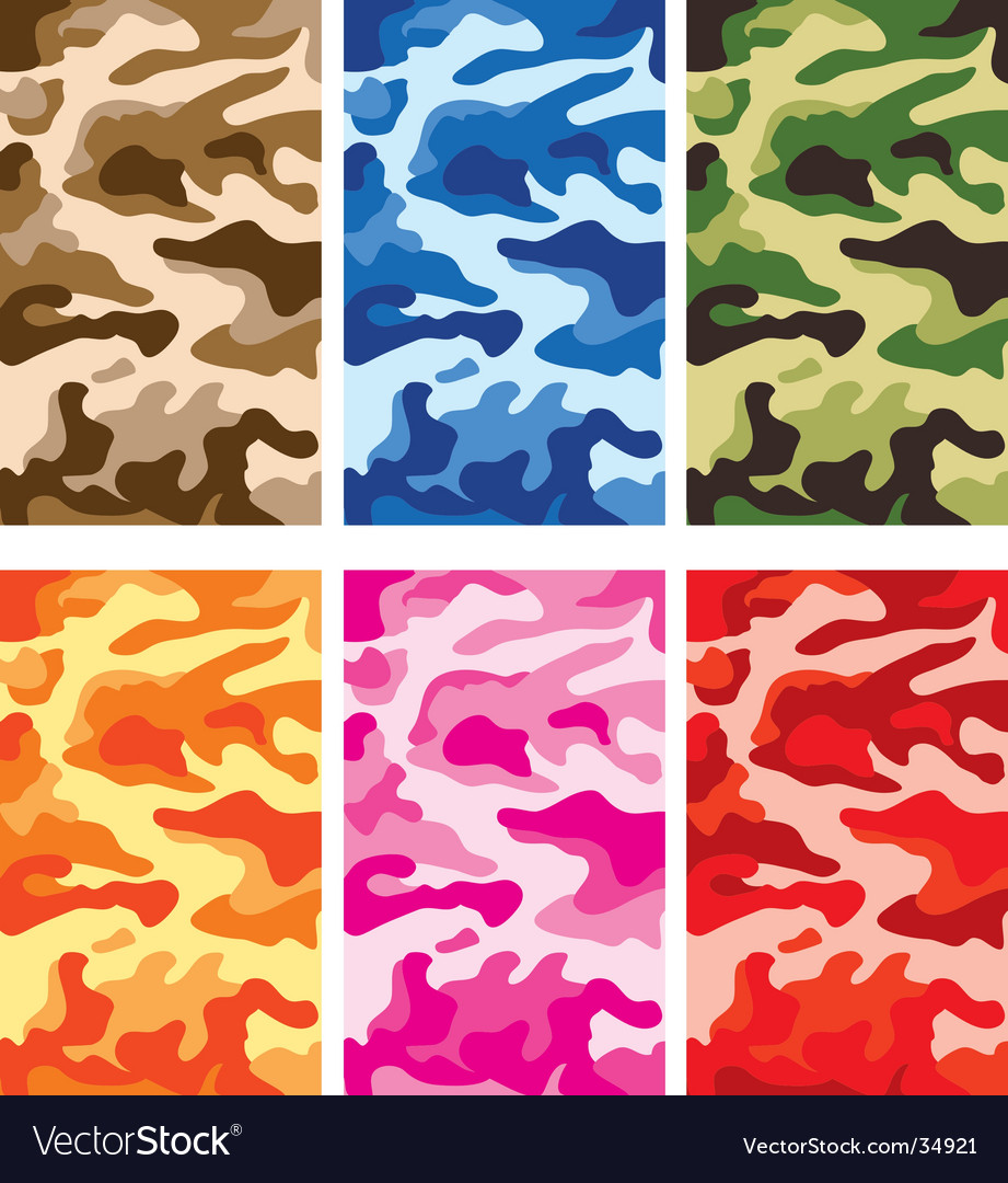 Army camouflage pattern vector | Price: 1 Credit (USD $1)