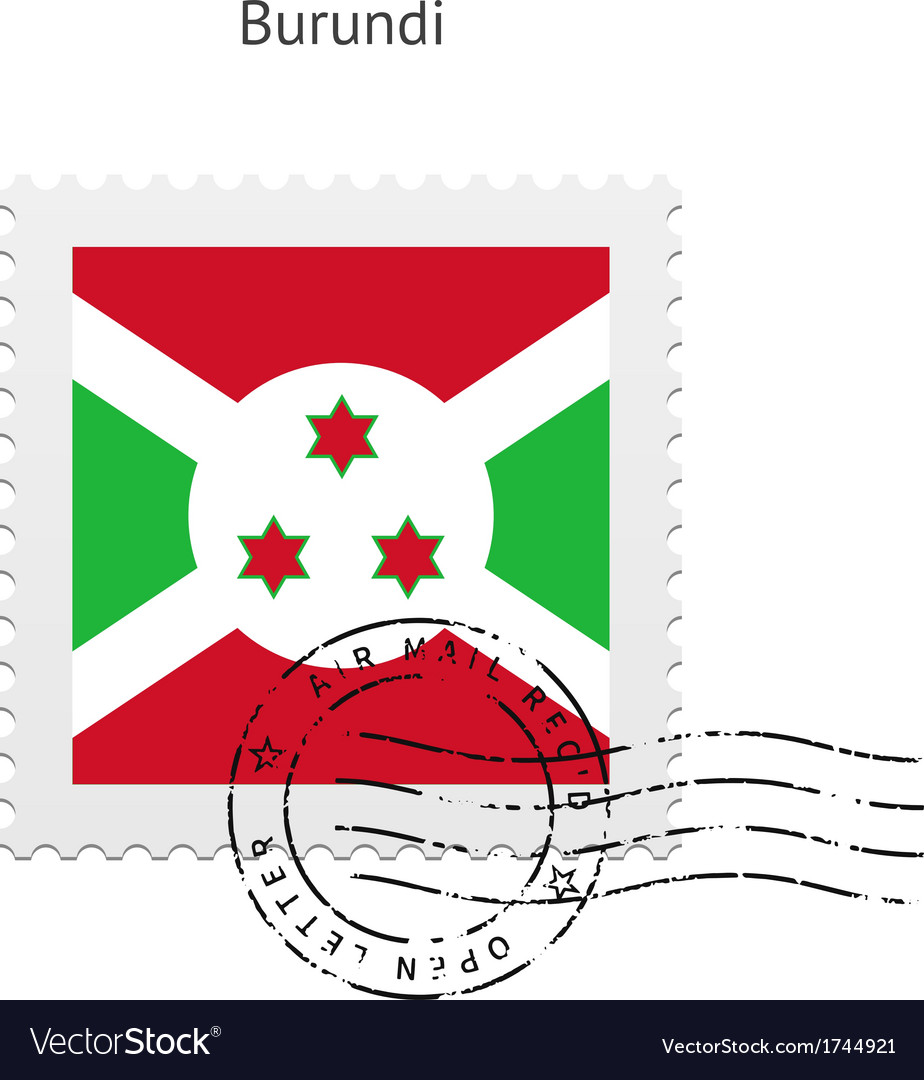 Burundi flag postage stamp vector   Price: 1 Credit (USD $1)