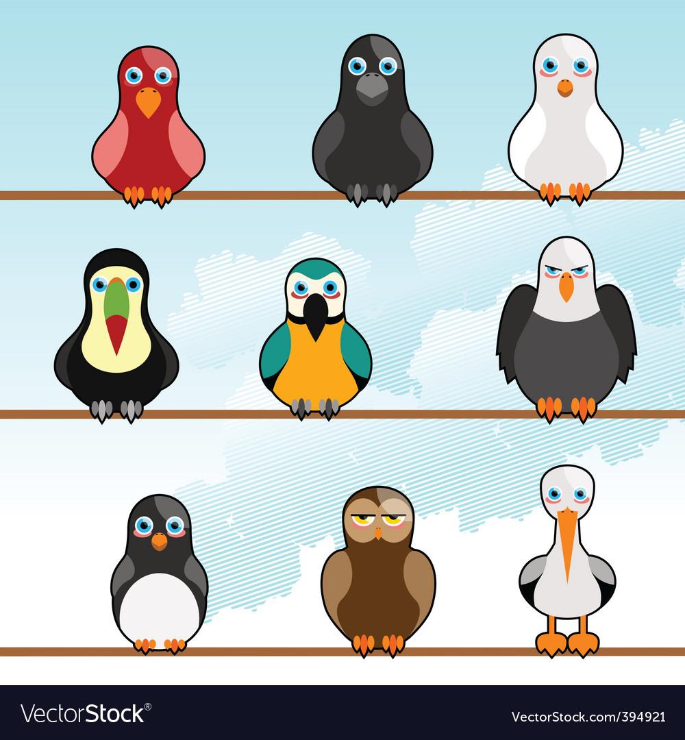 Cartoon birds vector | Price: 1 Credit (USD $1)