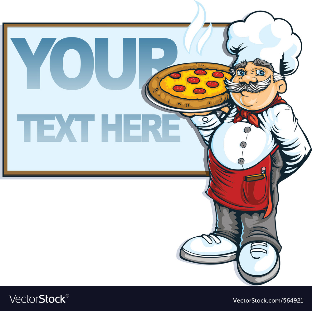 Chef pizzaria vector