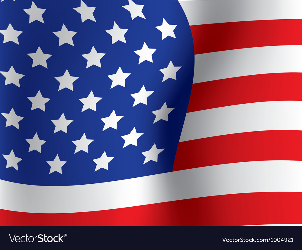 Close up of usa flag vector | Price: 1 Credit (USD $1)