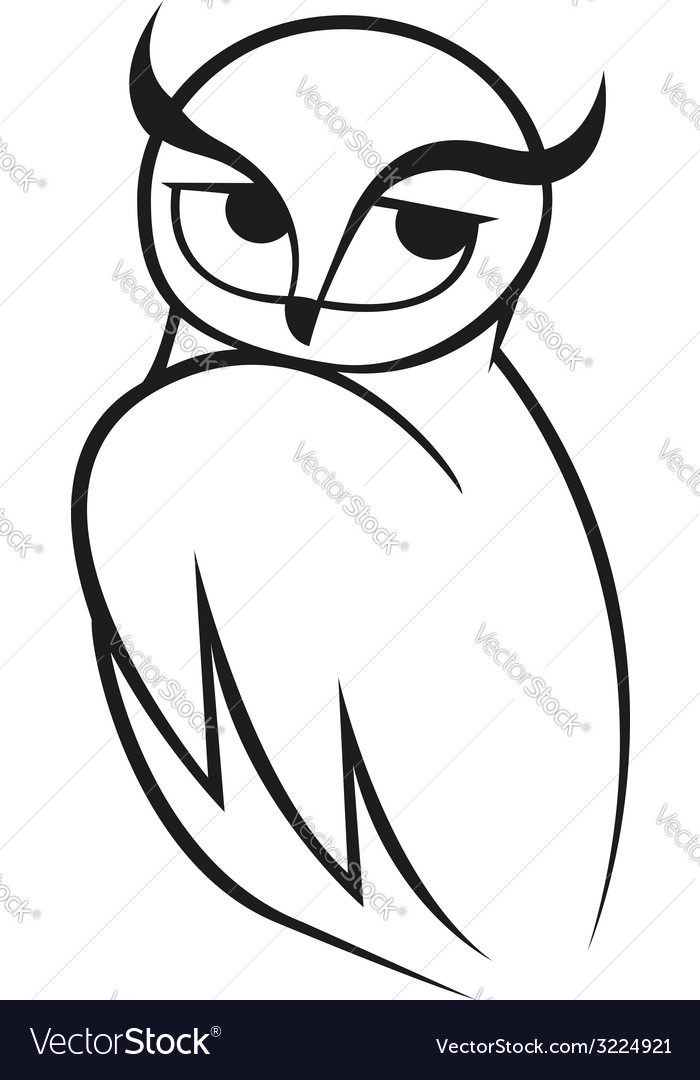 Doodle sketch of wise owl vector | Price: 1 Credit (USD $1)