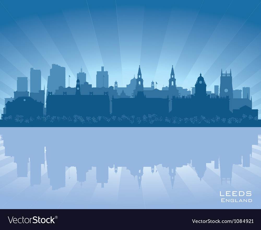 Leeds england skyline vector | Price: 1 Credit (USD $1)