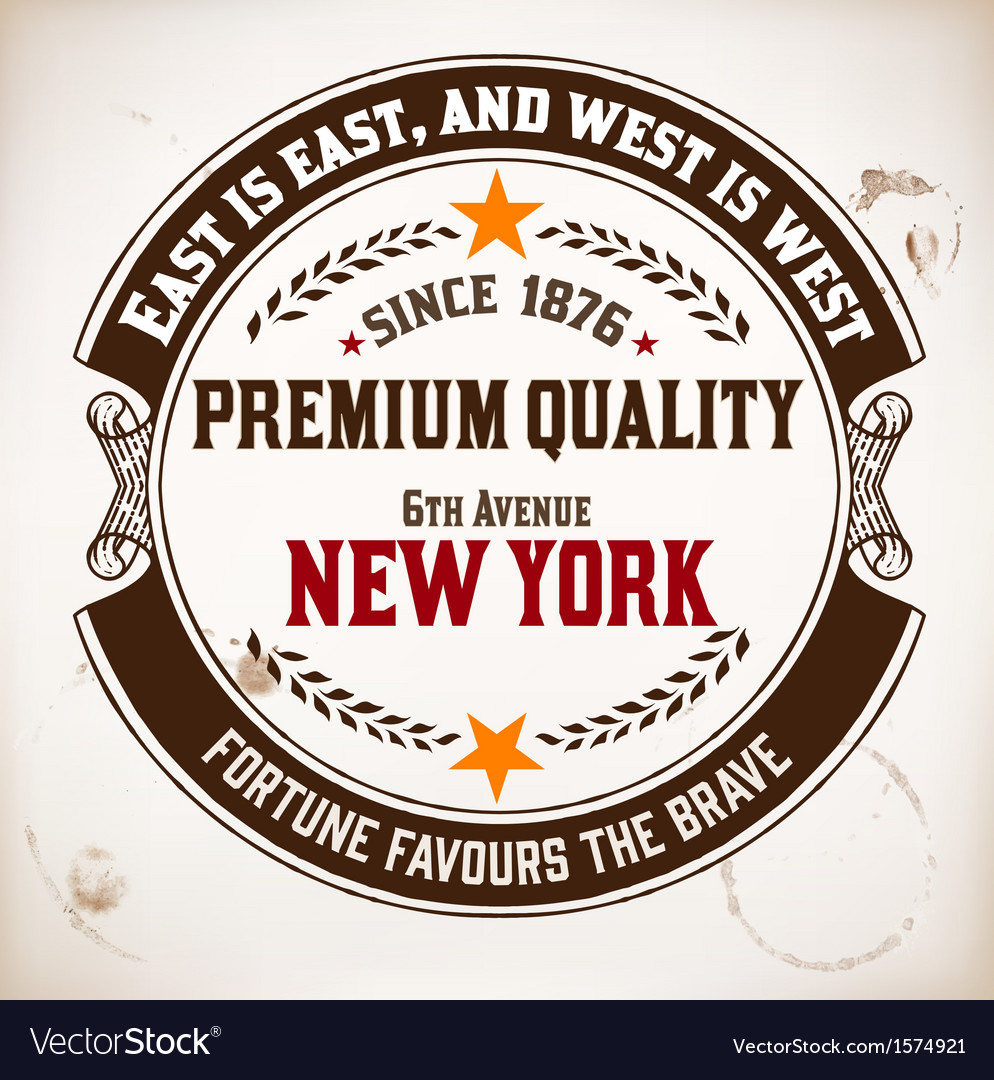 Premium quality insignia vector | Price: 1 Credit (USD $1)