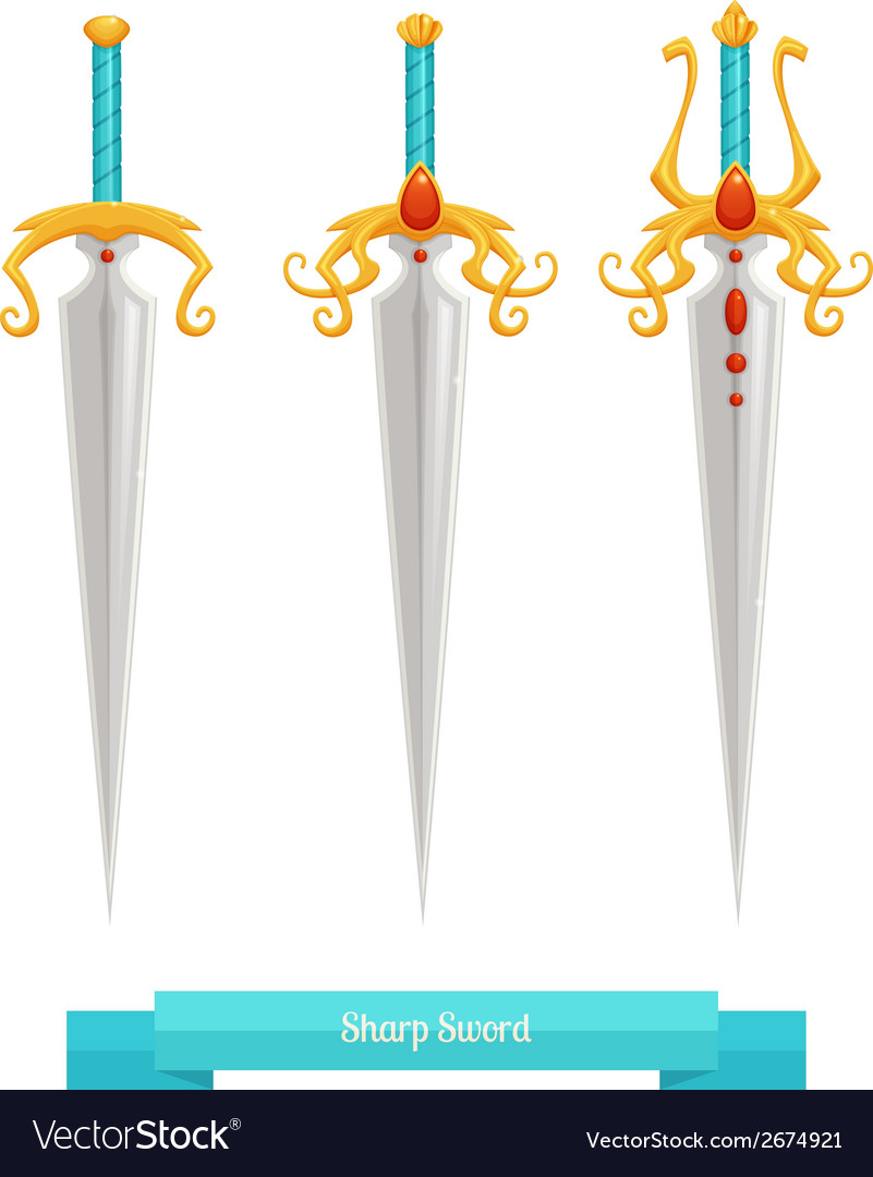 Sharp sword vector | Price: 1 Credit (USD $1)