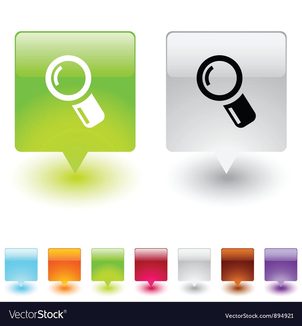 Zoom square button vector   Price: 1 Credit (USD $1)