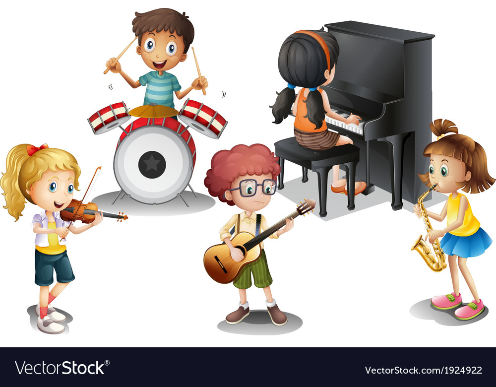 A group of talented kids vector | Price: 3 Credit (USD $3)
