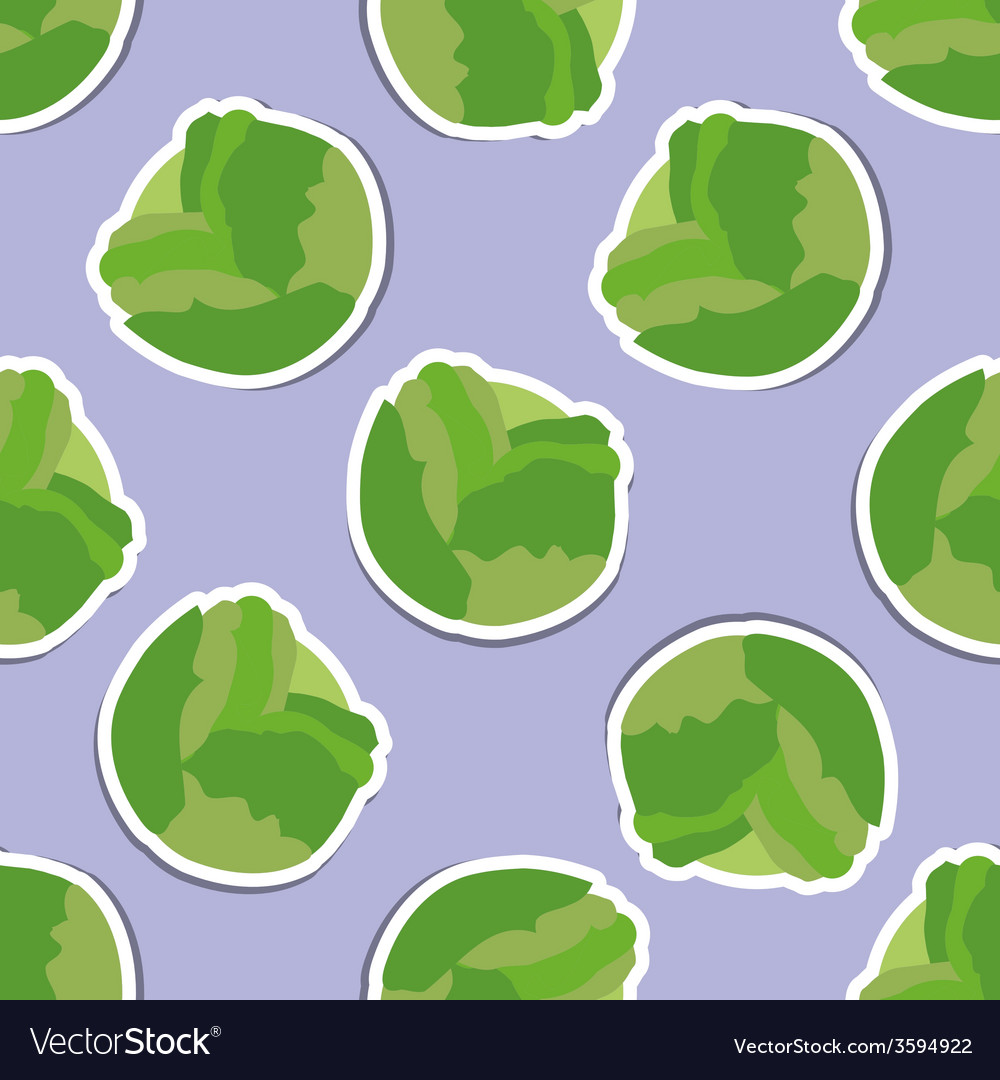 Cabbage pattern seamless texture vector | Price: 1 Credit (USD $1)