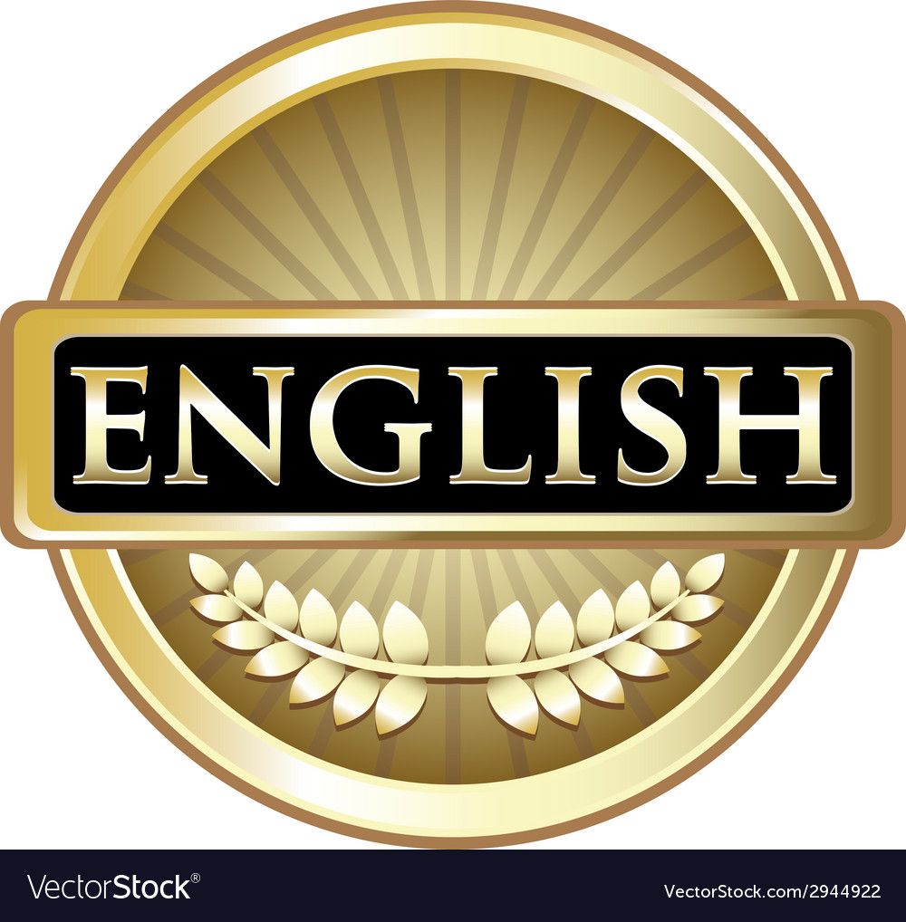 English gold label vector | Price: 1 Credit (USD $1)