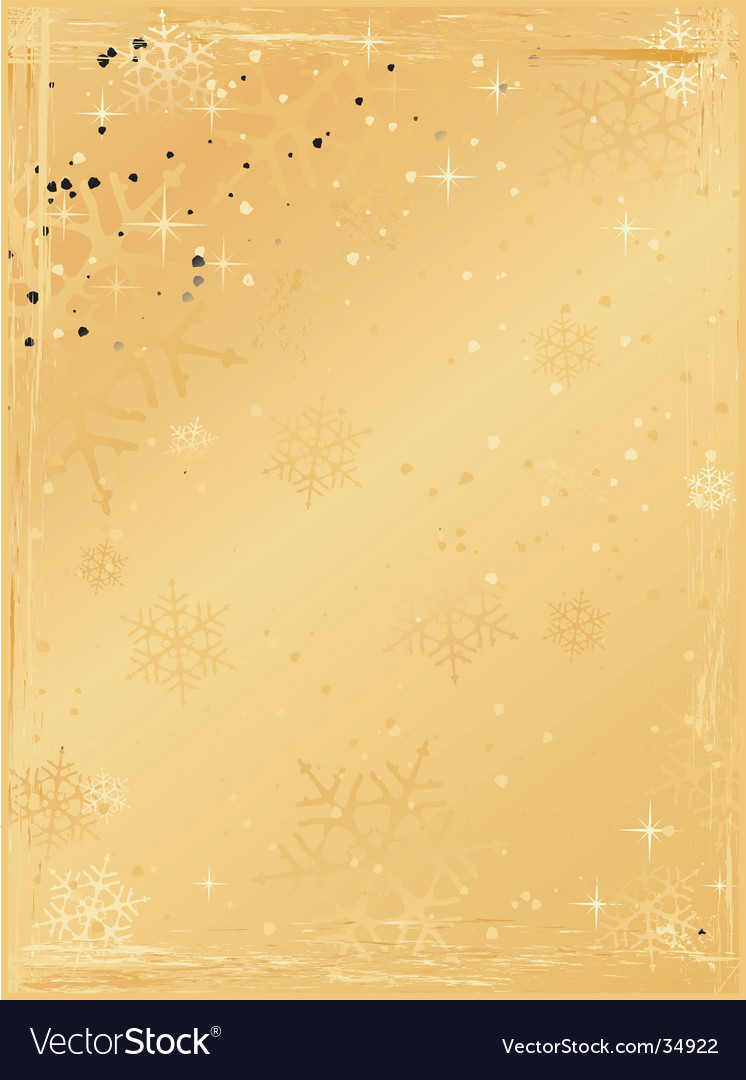 Golden vertical grunge christmas background vector | Price: 1 Credit (USD $1)