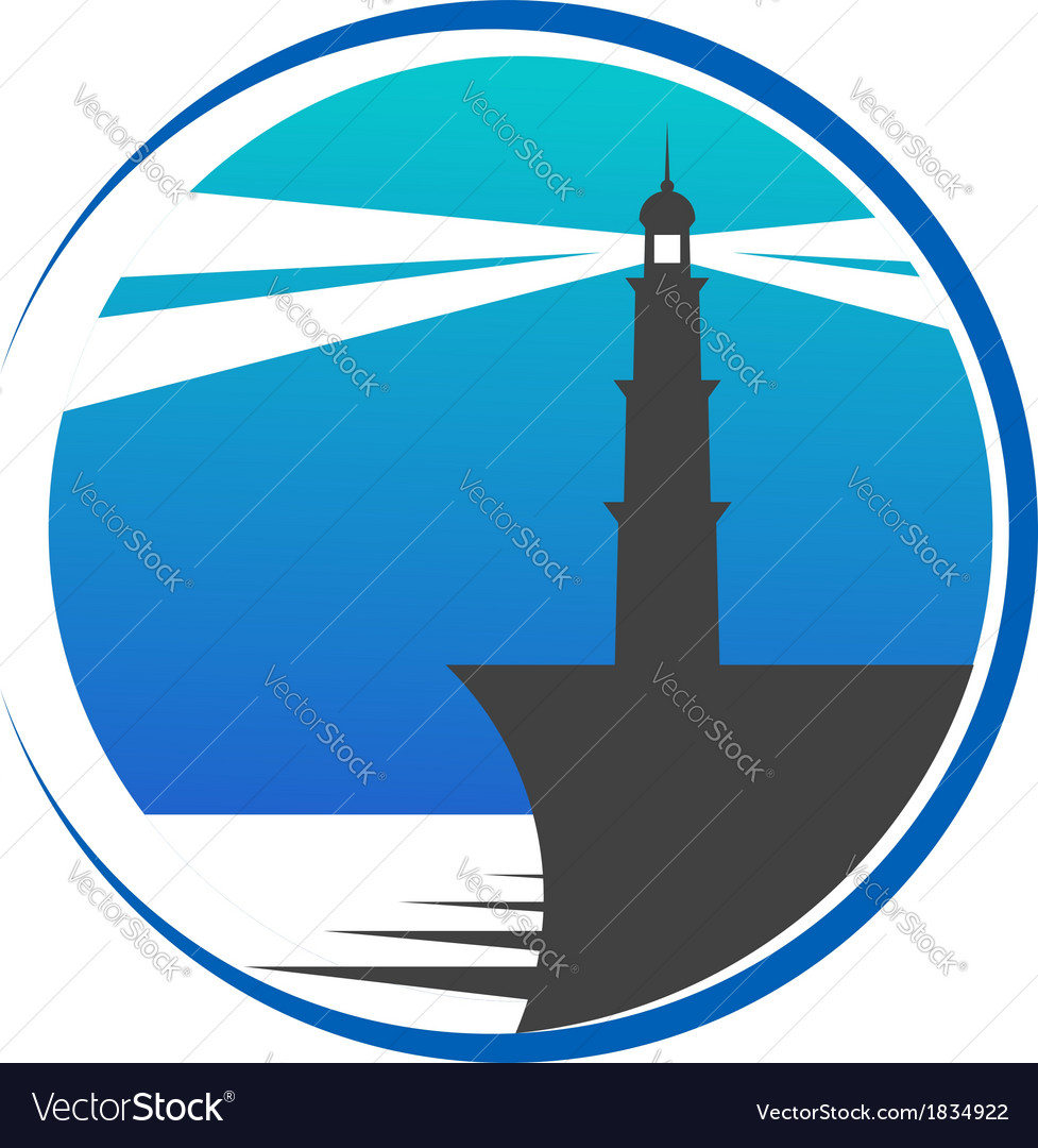 Lighthouse button or icon vector | Price: 1 Credit (USD $1)