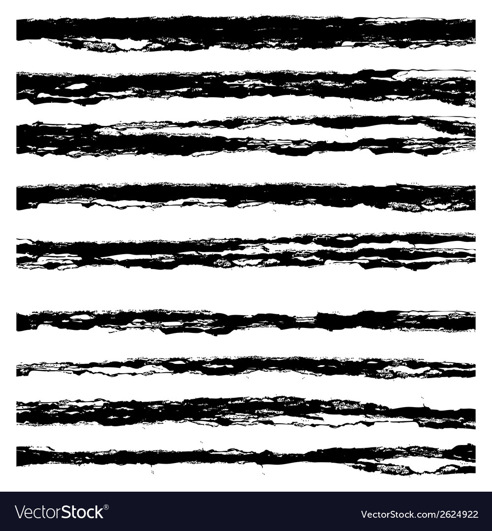 Set of black brush strokes vector | Price: 1 Credit (USD $1)