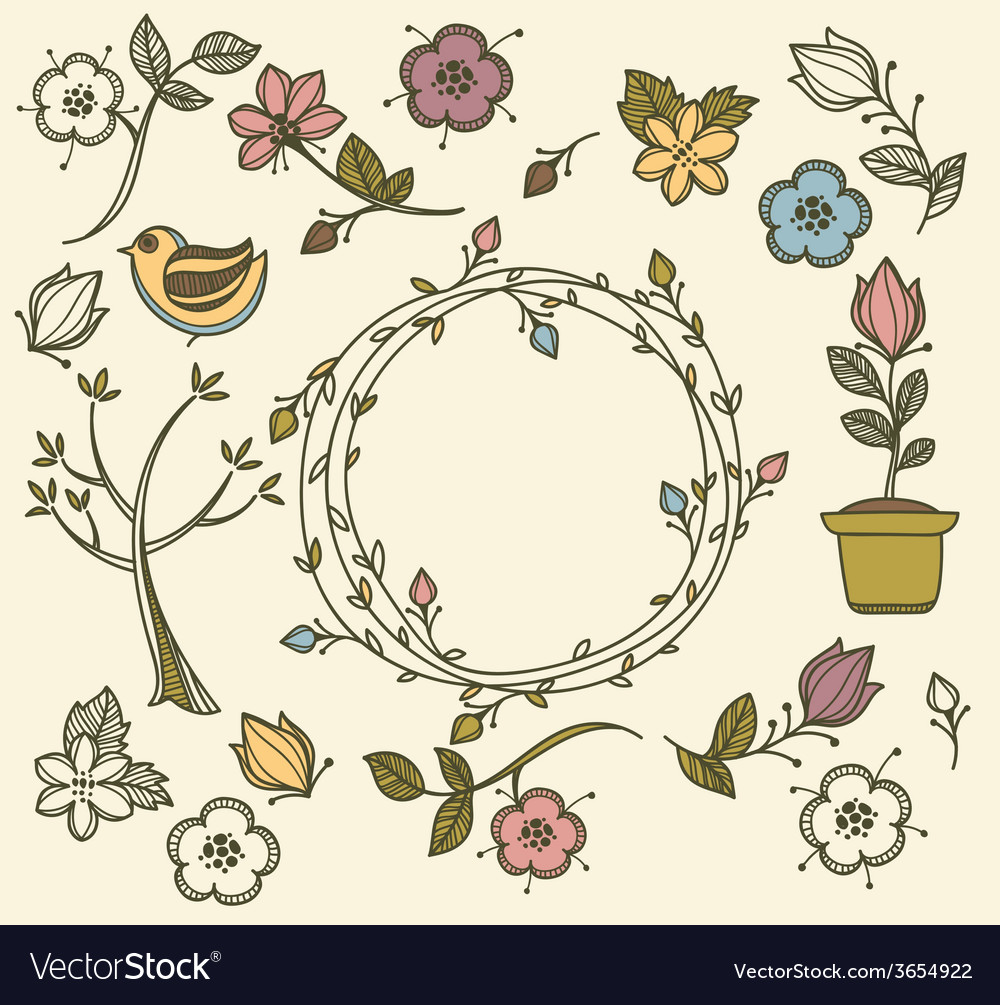 Spring doodle vector | Price: 1 Credit (USD $1)