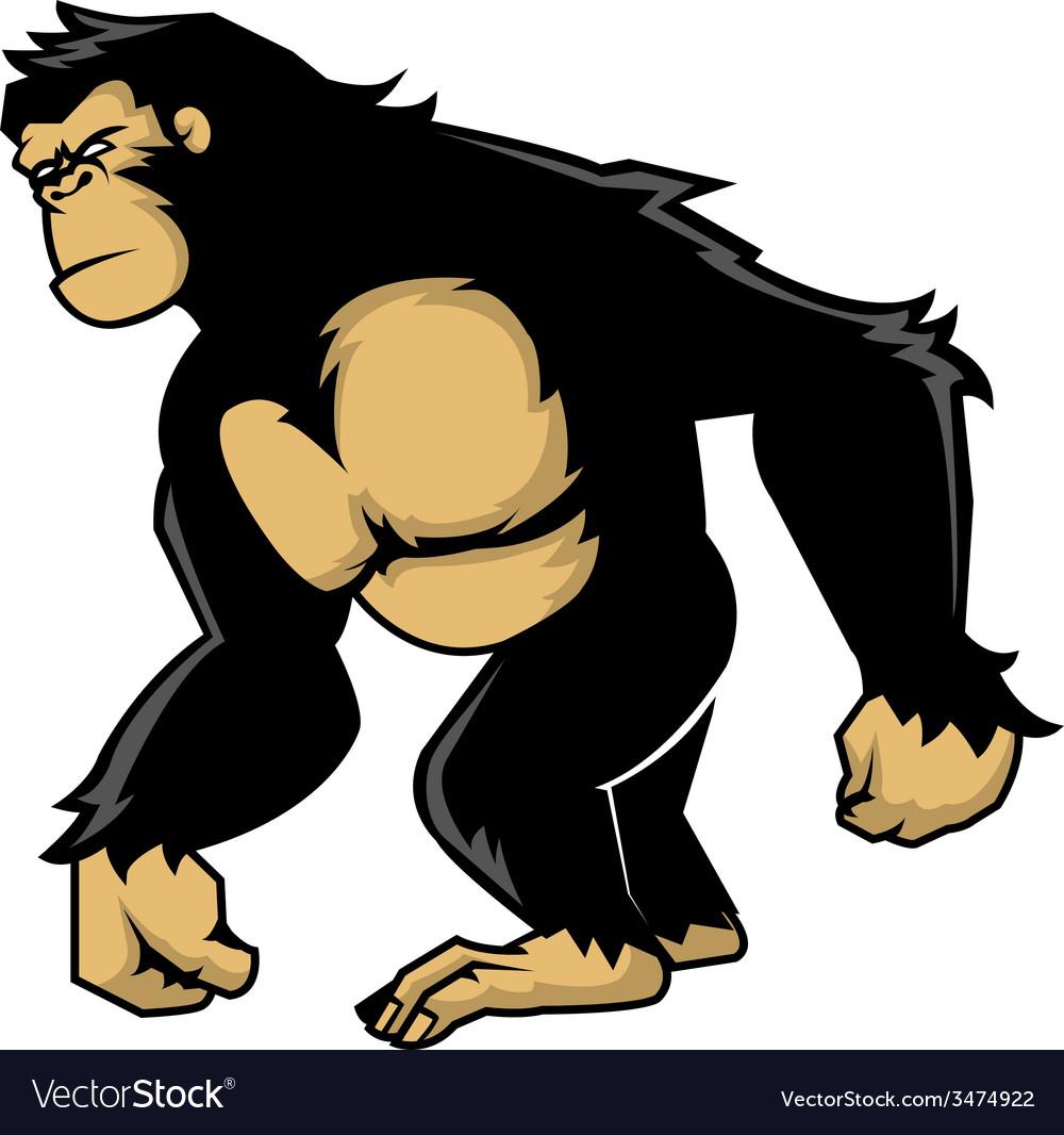 Walking ape vector | Price: 1 Credit (USD $1)