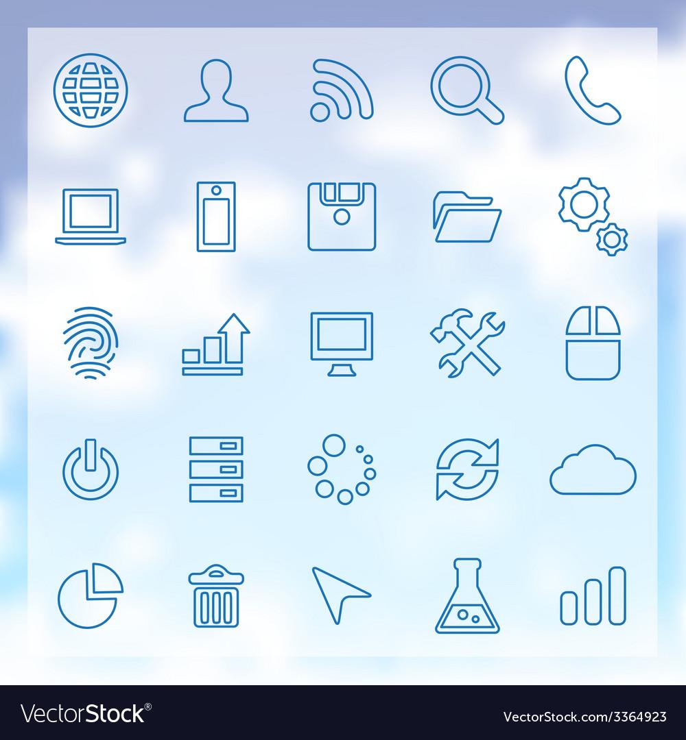 25 development icons set vector | Price: 1 Credit (USD $1)