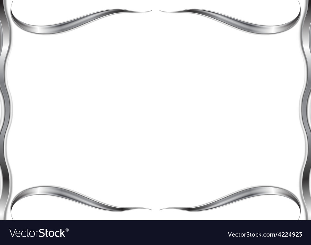 Abstract wavy pattern frame vector | Price: 1 Credit (USD $1)