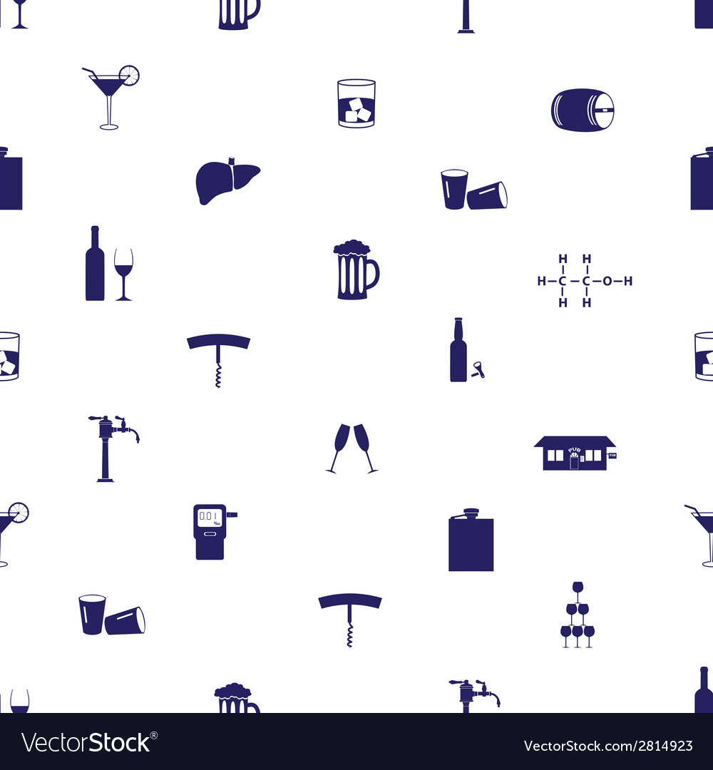 Alcohol drinks icons seamless pattern eps10 vector | Price: 1 Credit (USD $1)