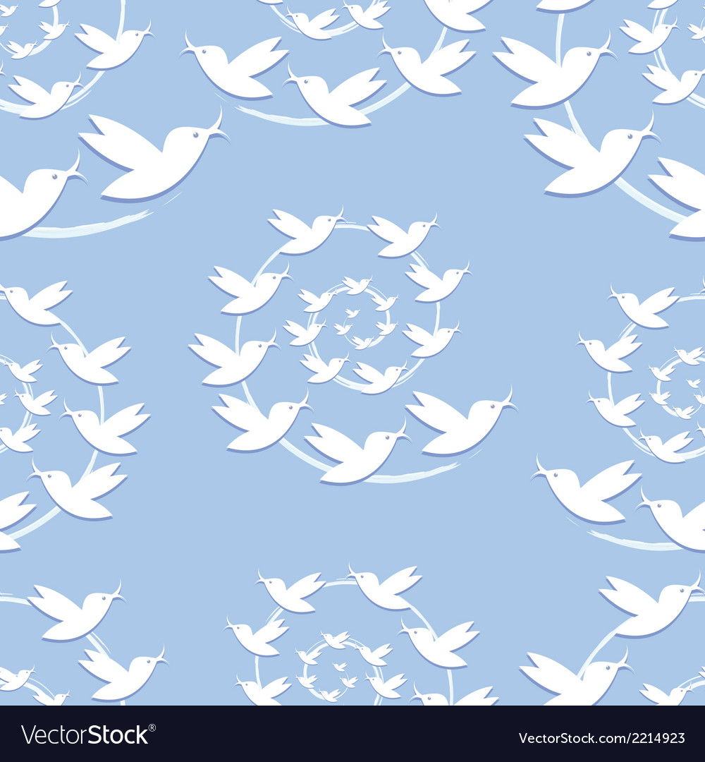 Bird seamless pattern vector | Price: 1 Credit (USD $1)