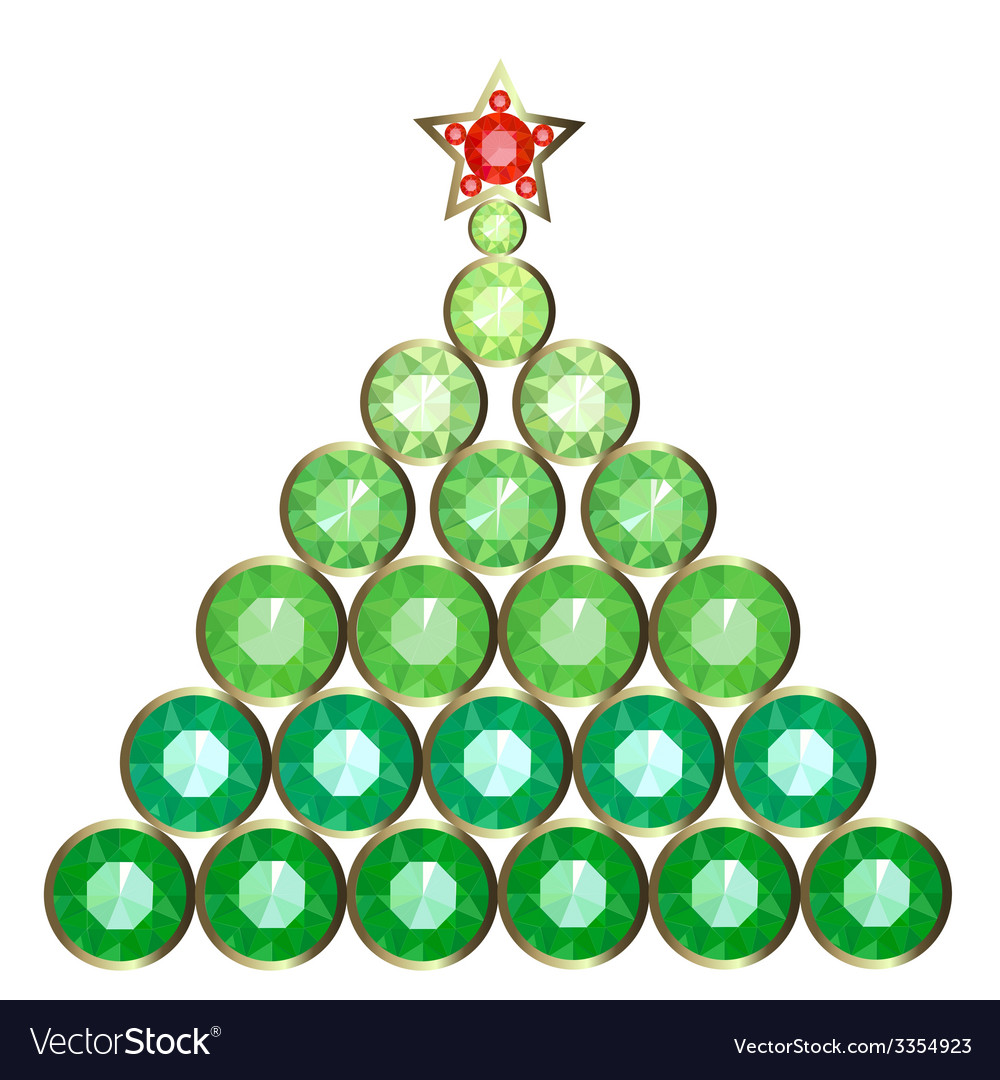 Decorative christmas tree vector | Price: 1 Credit (USD $1)