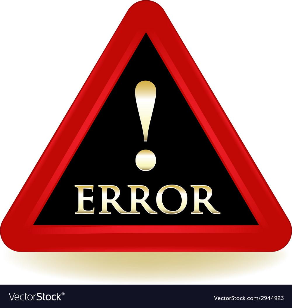 Error sign vector   Price: 1 Credit (USD $1)