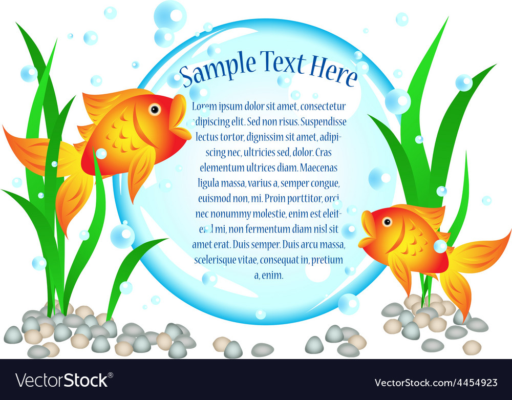 Goldfish advertisement vector | Price: 1 Credit (USD $1)