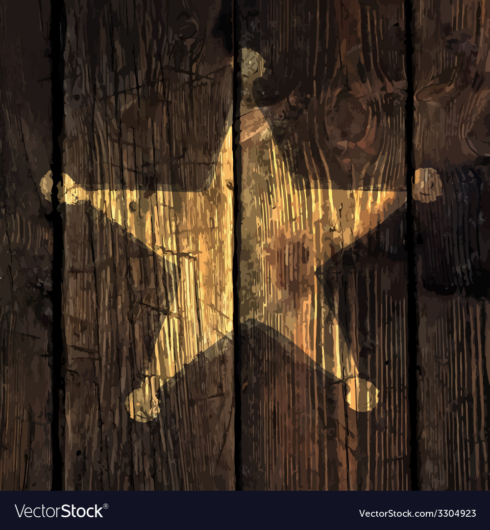 Grungy sheriff star on wooden texture vector | Price: 1 Credit (USD $1)